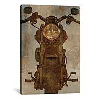 Vintage Motorcycle Canvas Art Print
