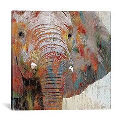 Paint Splash Elephant Canvas Art Print