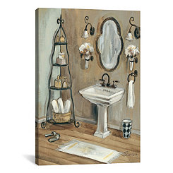 French Bath I Canvas Art Print