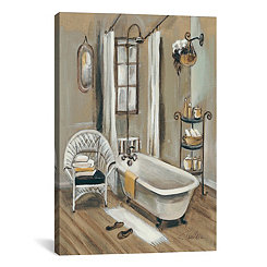French Bath II Canvas Art Print