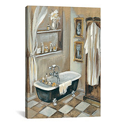 French Bath III Canvas Art Print
