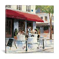 Relaxing at the Cafe I Canvas Art Print