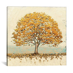 Golden Oak Canvas Art Print