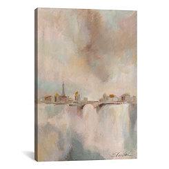 Paris Morning Mist Canvas Art Print