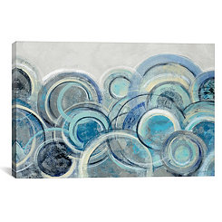 Blue and Gray Variation Canvas Art Print