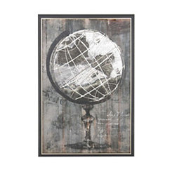 Painted Globe Framed Art Print