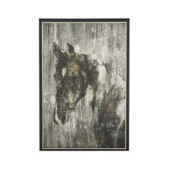 Painted Horse Framed Canvas Art Print