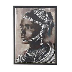 Painted Tribal Woman Framed Art Print
