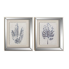 Leaf Silhouettes Framed Art Prints, Set of 2