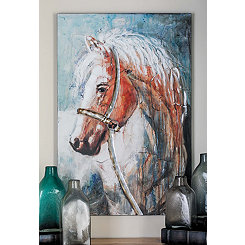 Contemporary Horse Head Canvas Art Print