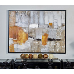 Contemporary Abstract Framed Canvas Art Print