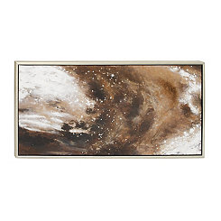 Glam Galaxy Abstract Framed Canvas Art Print