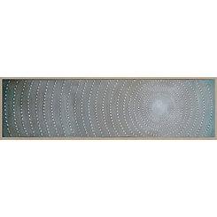 Abstract Gray Illusion Framed Canvas Art Print