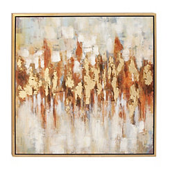Abstract Color Field Framed Canvas Art Print