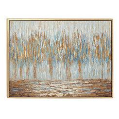 Rustic Reflections Framed Canvas Art Print