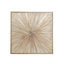 Gold Contemporary Burst Framed Canvas Art Print