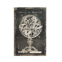Distressed Armillary Canvas Art Print