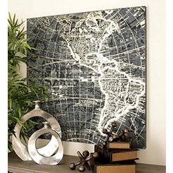 Gold Vintage World Map Canvas Art Print