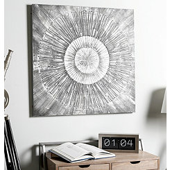 Monochrome Burst Canvas Art Print