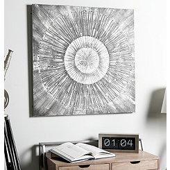 Monochrome Burst Canvas Art Print