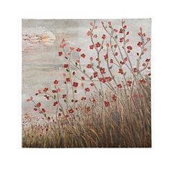 Flowering Red Canvas Art Print