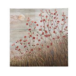 Flowering Red Canvas Art Print