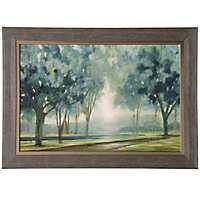 Blue Forest Gel Coated Framed Art Print