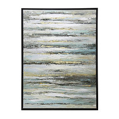 Dusty Abstract Foil Framed Canvas Art Print