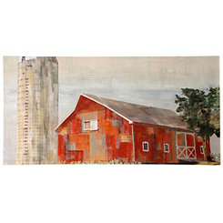 Barnside Silo Canvas Art Print