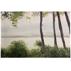 Lakeside Landscape Canvas Art Print