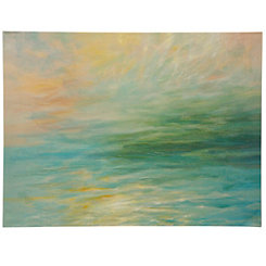 Ocean Blue Skies Canvas Art Print