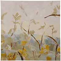 Leafage Embellished Canvas Art Print