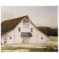 Ole Blanc Barn Embellished Canvas Art Print