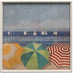 Beach Day Kinetic Framed Art Print