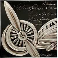 Silver Aeronautical Metal Art