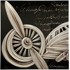 Silver Aeronautical Metal Art