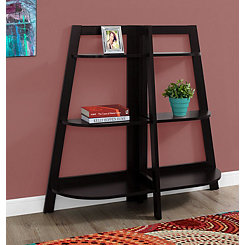 Cappuccino 6-Shelf Half Moon Bookcase