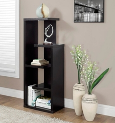 Cappuccino Bookcase with 5 Open Shelves