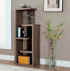 Taupe Bookcase with 5 Open Shelves