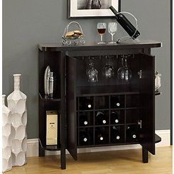 Two-Door Cappuccino Bar Storage Cabinet