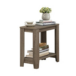 Rectangular Dark Taupe Accent Table