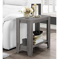 Rectangular Gray Accent Table