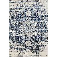 Navy Lila Distressed Area Rug, 5x7