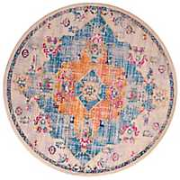 Blue Mira Round Area Rug, 8 ft.