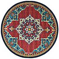 Blue Valerie Round Area Rug, 8 ft.