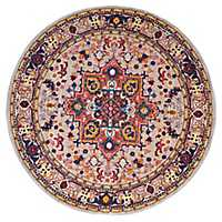 Zoie Cream Round Area Rug, 8 ft.