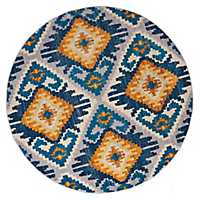 Tatum Blue Round Area Rug, 8 ft.