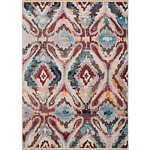 Multicolor Agape Area Rug, 5x8