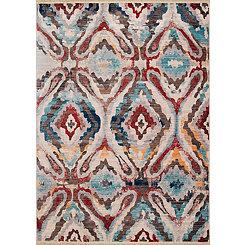 Multicolor Agape Area Rug, 8x11