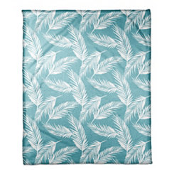 Mint Palm Fleece Blanket